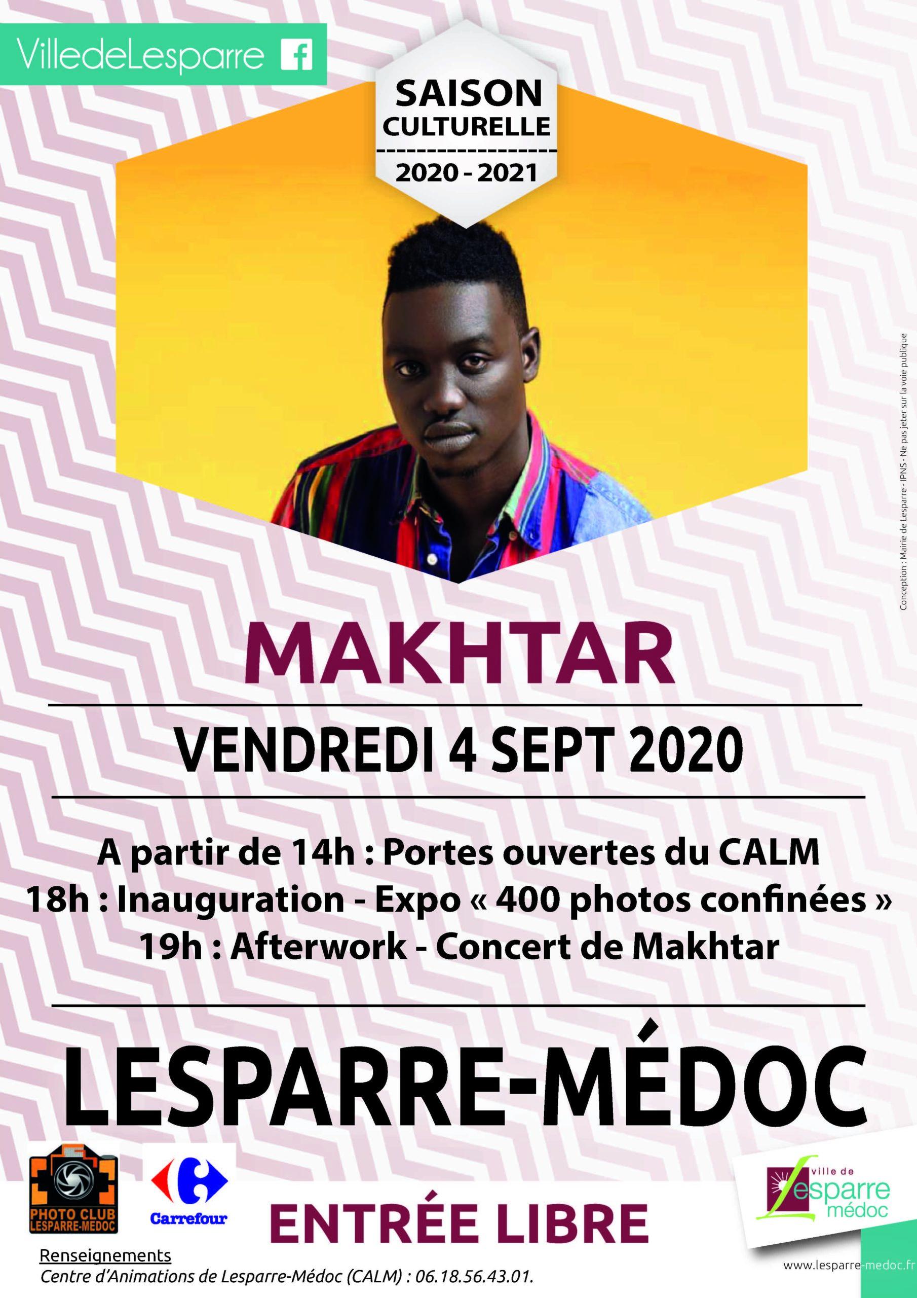 Portes ouvertes du CALM 2020 et concert Makhtar