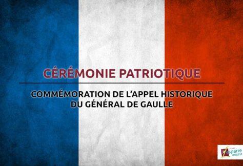 Cérémonie patriotique - 18 juin