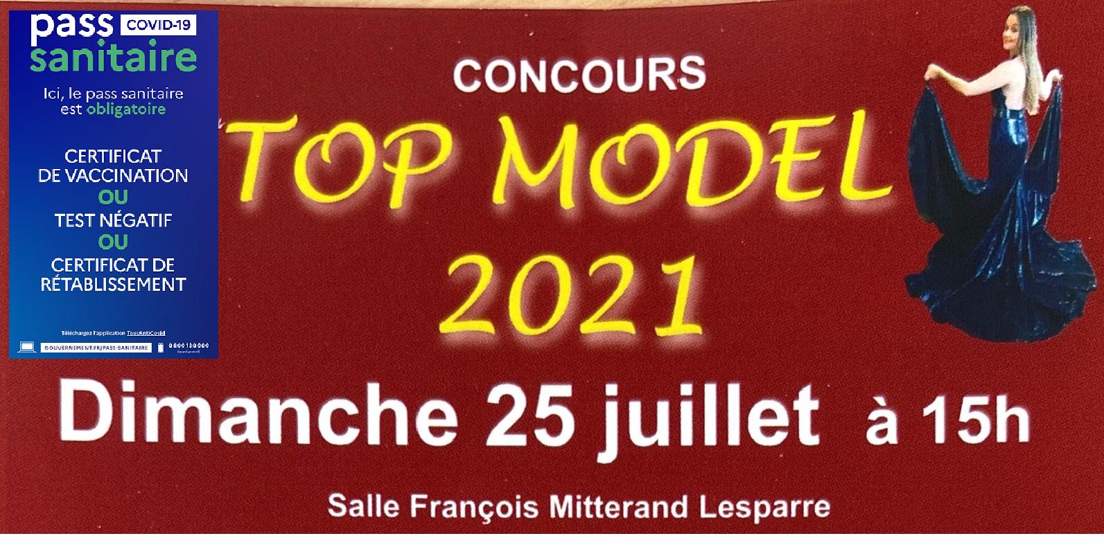 Top model 2021_affiche pass sanitaire
