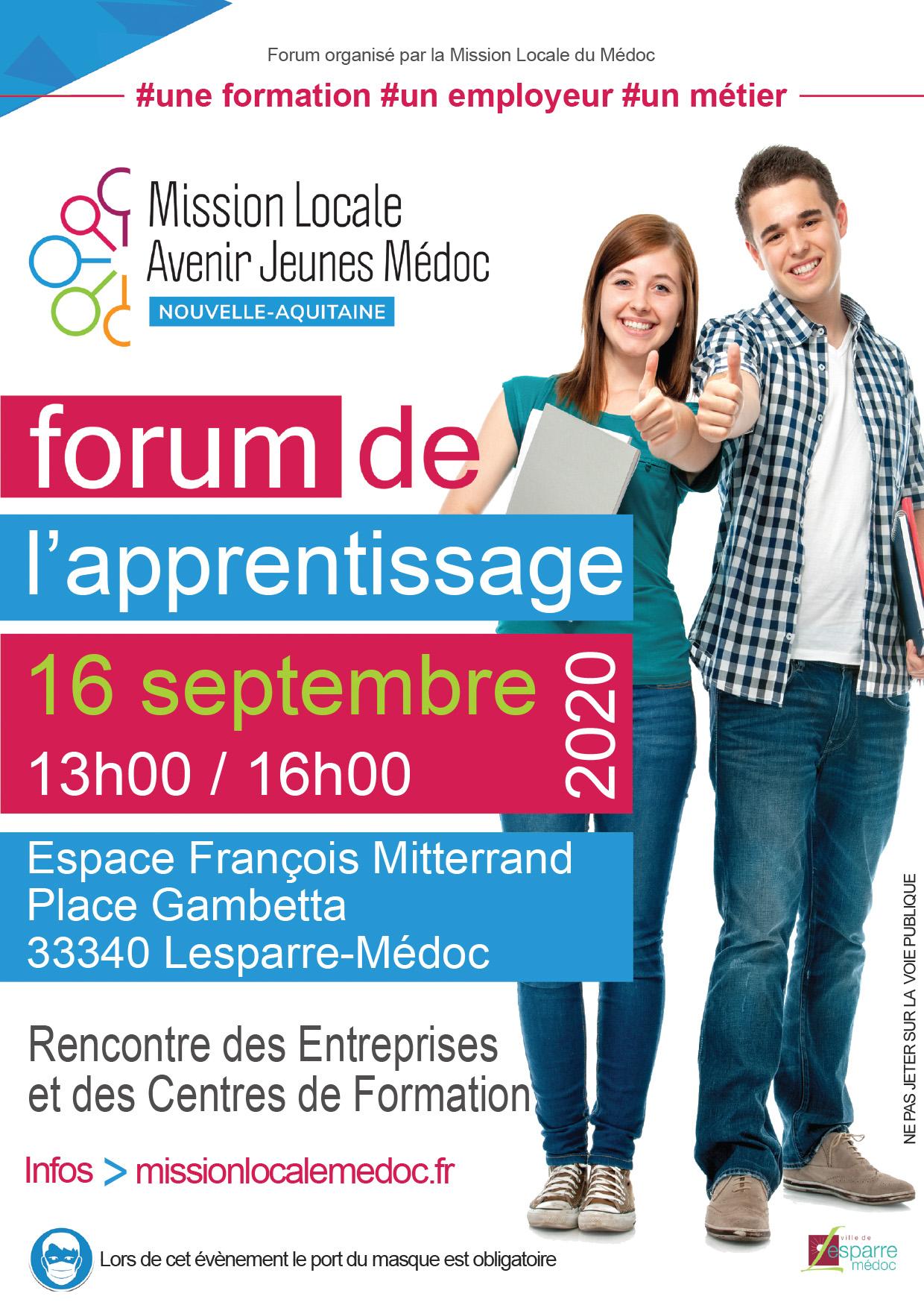 Forum de l'apprentissage 2020 - Mission locale