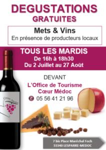 degustation mets et vins 2019